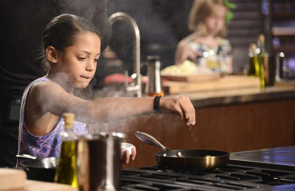 Nine-year-old Chloe Hawkins of San Antonio competes on the premiere of