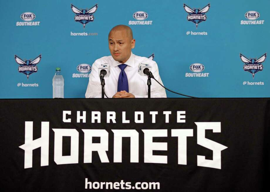 "FILE - In this April 13, 2017, file photo, Charlotte Hornets general manager Rich Cho speaks to the media during a news conference in Charlotte, N.C. The struggling Hornets have fired general manager Rich Cho. Team owner Michael Jordan announced the news in a release Tuesday, Feb. 20, 2018, saying ""we're deeply committed to our fans and to the city of Charlotte to provide a consistent winner on the court. The search will now begin for our next head of basketball operations who will help us achieve that goal.""(AP Photo/Chuck Burton, File) Photo: Chuck Burton / Copyright 2017 The Associated Press. All rights reserved."