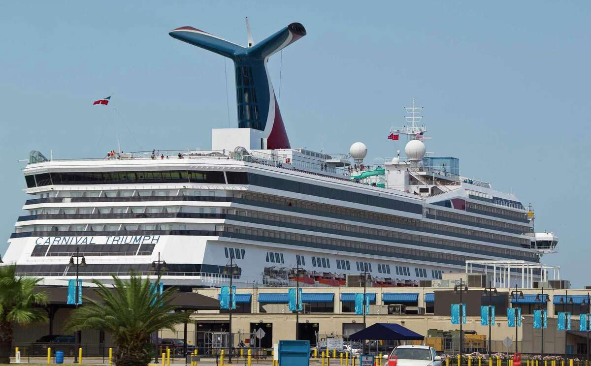 The Carnival Triumph cruise ship prepares to depart, Thursday, June 13, 2013,at the Port of Galveston in Galveston. R( Nick de la Torre / Houston Chronicle )