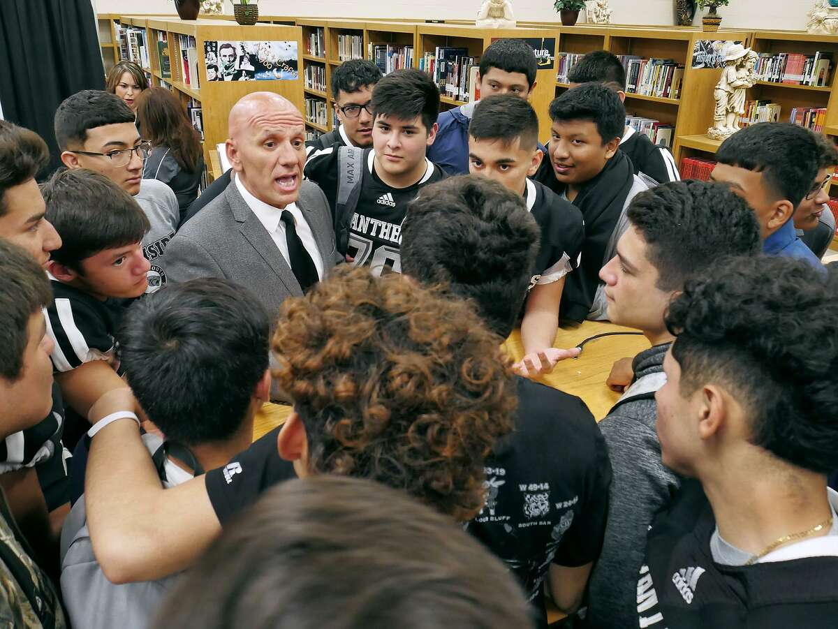 At his introductory press conference Tuesday, new United South campus coordinator and football head coach Joe Coss said his priority is building relationships with athletes which will lead to success on the field.