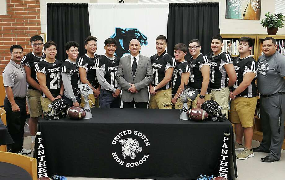 United South High Panthers new Athletic Coordinator, Jose Coss was introduced at a press conference at the school's library, Tuesday, February 20, 2018. Photo: Cuate Santos / Laredo Morning Times / Laredo Morning Times