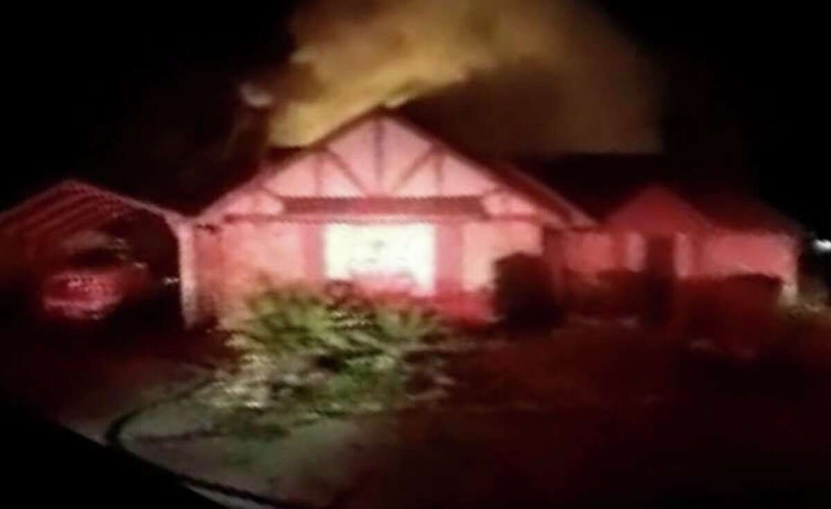 The fire broke out at the rear of the home early Saturday morning and spread into the homeÂ?'s attic before crews from the Caney Creek, East Montgomery County, and Porter Fire Departments brought it under control.