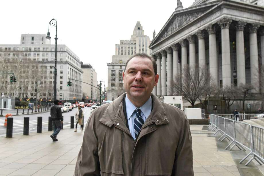Joseph Percoco, a former top aide to Gov. Andrew Cuomo outside court as his federal corruption trial is underway, in New York, Feb. 16, 2018.  Percoco is being represented by a top-shelf legal team at his federal corruption trial, but who's footing the bill remains a mystery. (Stephanie Keith/The New York Times) Photo: STEPHANIE KEITH / NYTNS