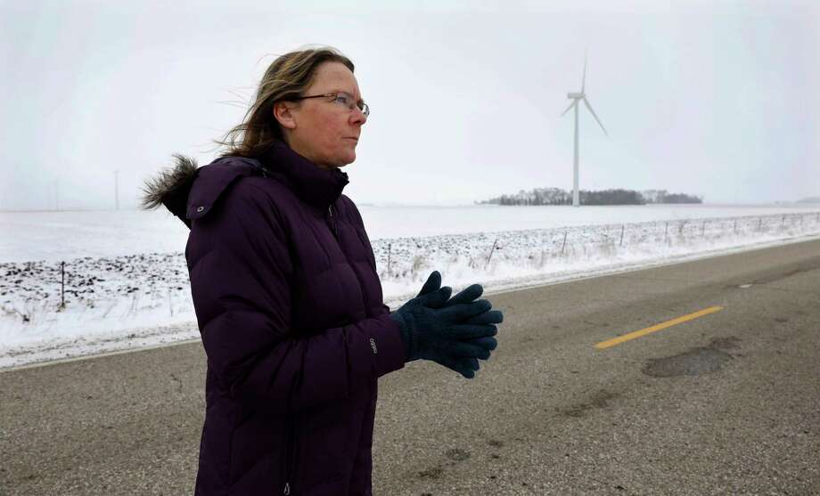 Dorenne Hansen of Glenville, Minn., is leading the opposition in that state to the development of wind-farm projects. So far, her efforts have been largely successful.  Photo: Charlie Neibergall, STF / Copyright 2018 The Associated Press. All rights reserved.