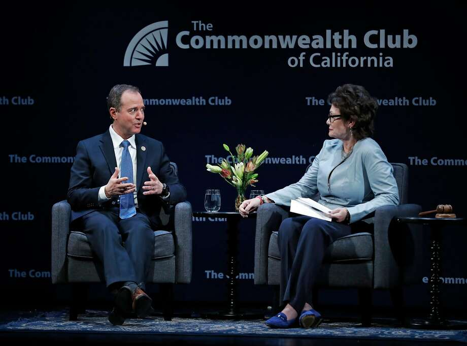 Rep. Adam Schiff is interviewed by former US Representative Ellen Tauscher at The Commonwealth Club of California at Marines Memorial Theater in San Francisco, Calif., on Tuesday, February 20, 2018. Photo: Scott Strazzante, The Chronicle