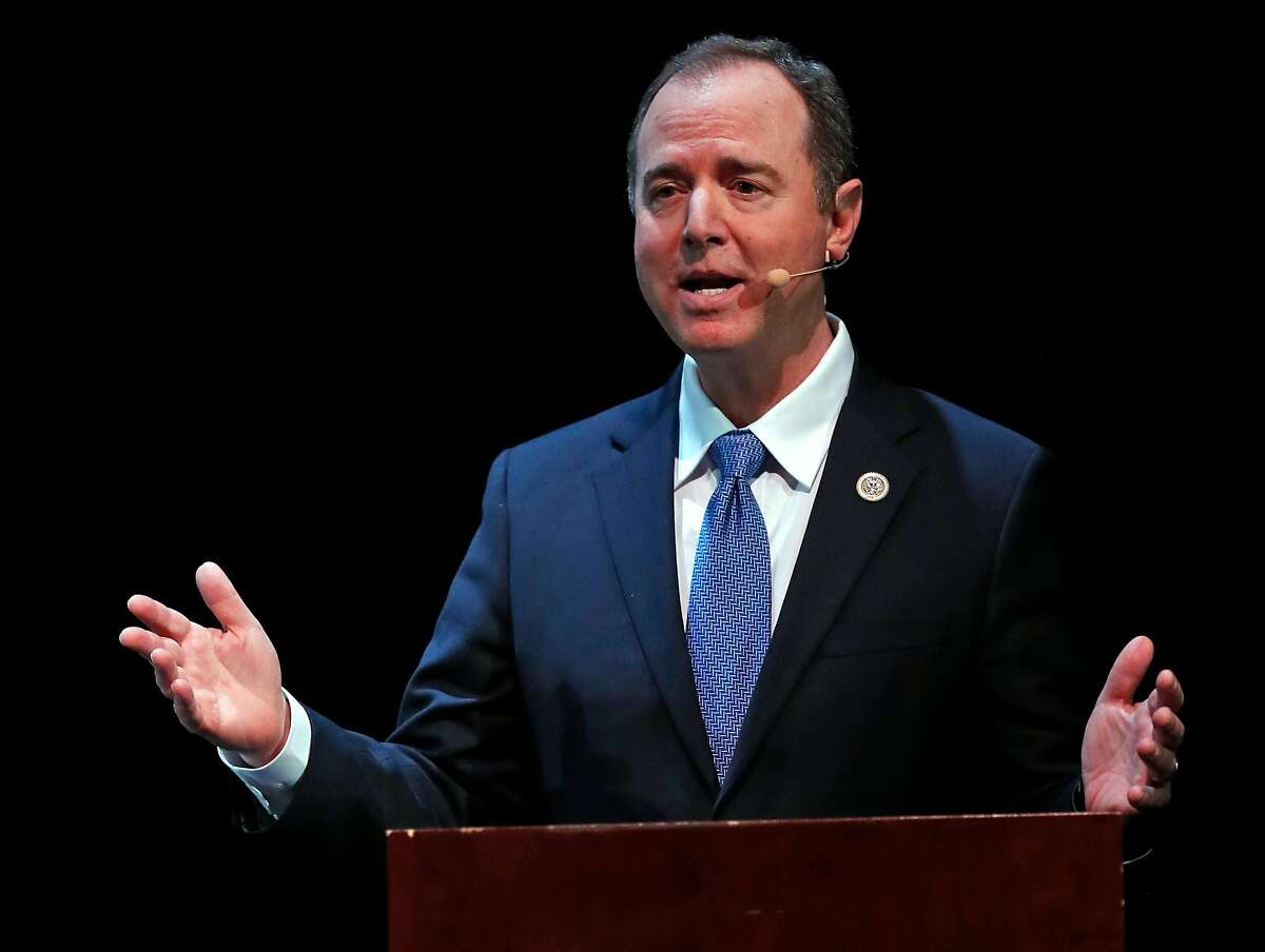 Rep. Adam Schiff speaks at The Commonwealth Club of California at Marines Memorial Theater in San Francisco, Calif., on Tuesday, February 20, 2018.