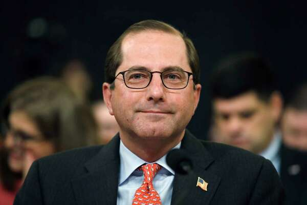 In this Feb. 14, 2018 photo, Health and Human Services Secretary Alex Azar attends a House Ways and Means Committee hearing on the FY19 budget on Capitol Hill in Washington. The Trump administration is clearing the way for a lower-cost alternative to comprehensive medical insurance plans sold under former President Barack Obama's health care law.  (AP Photo/Jacquelyn Martin)