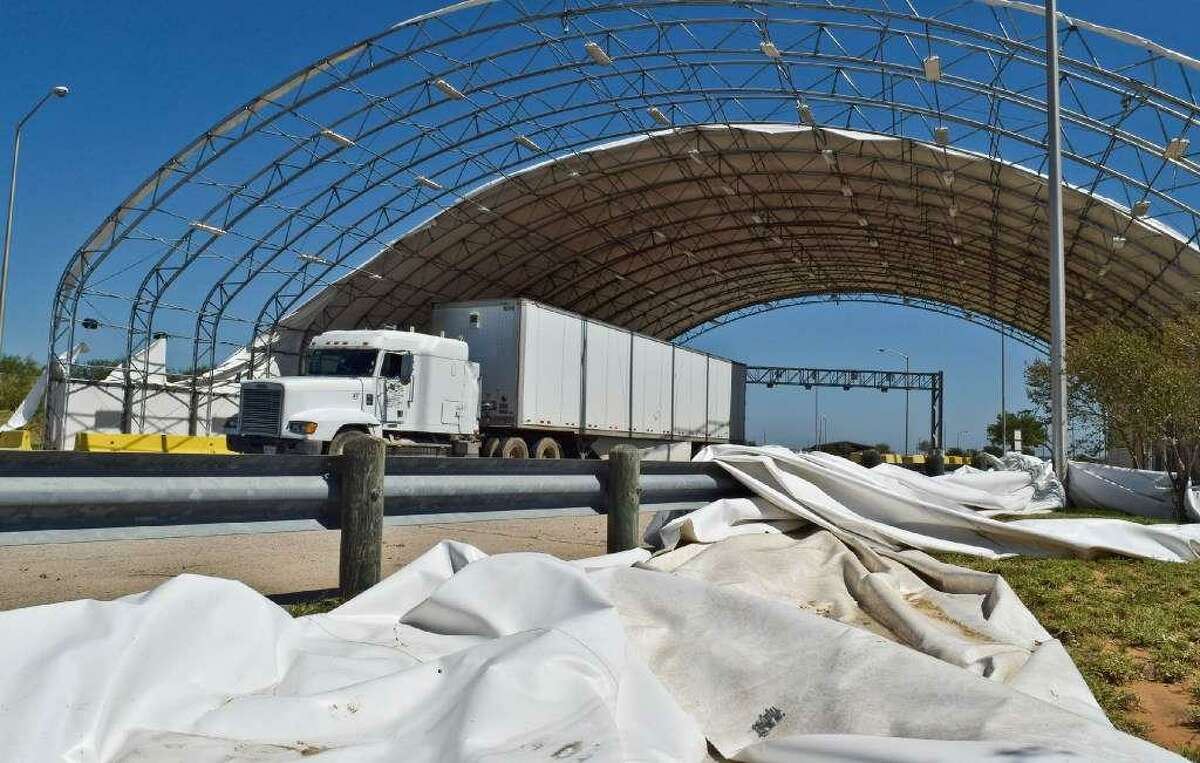 Facilities at the World Trade Bridge were damaged in May from a rain and wind storm.