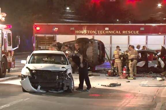 Two people died and two people were injured in a car crash on Antoine and Westview, Monday, Feb. 20, 2018.
