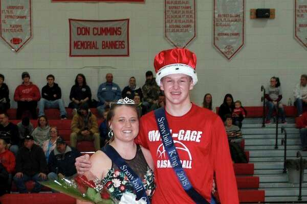 Aaron Fahrner and Morgan Ondrajka were recently crowned Owendale-Gagetown's Snowball King and Queen. (Submitted Photo)