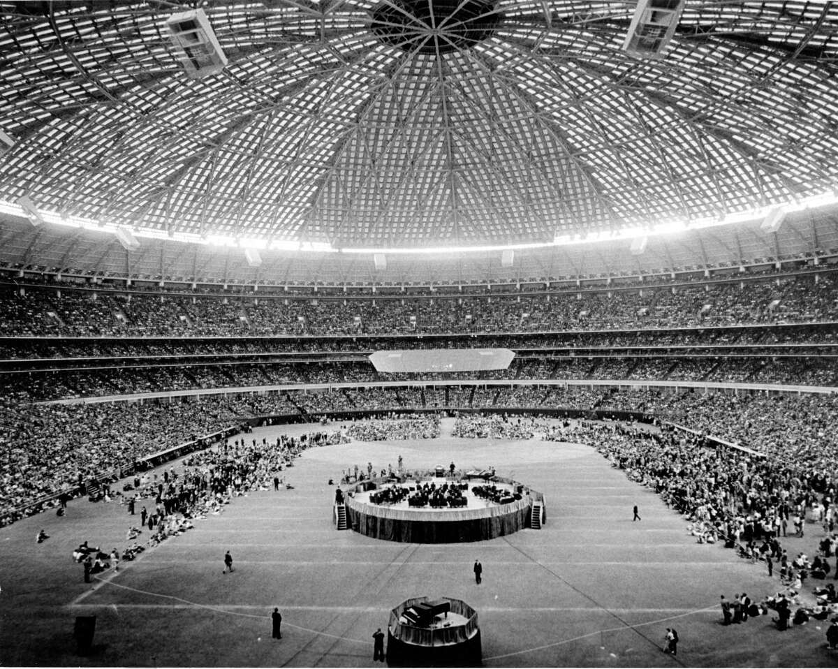 11/1965 - The ten-day Billy Graham Crusade in the Houston Astrodome, Nov. 19-28, 1965.