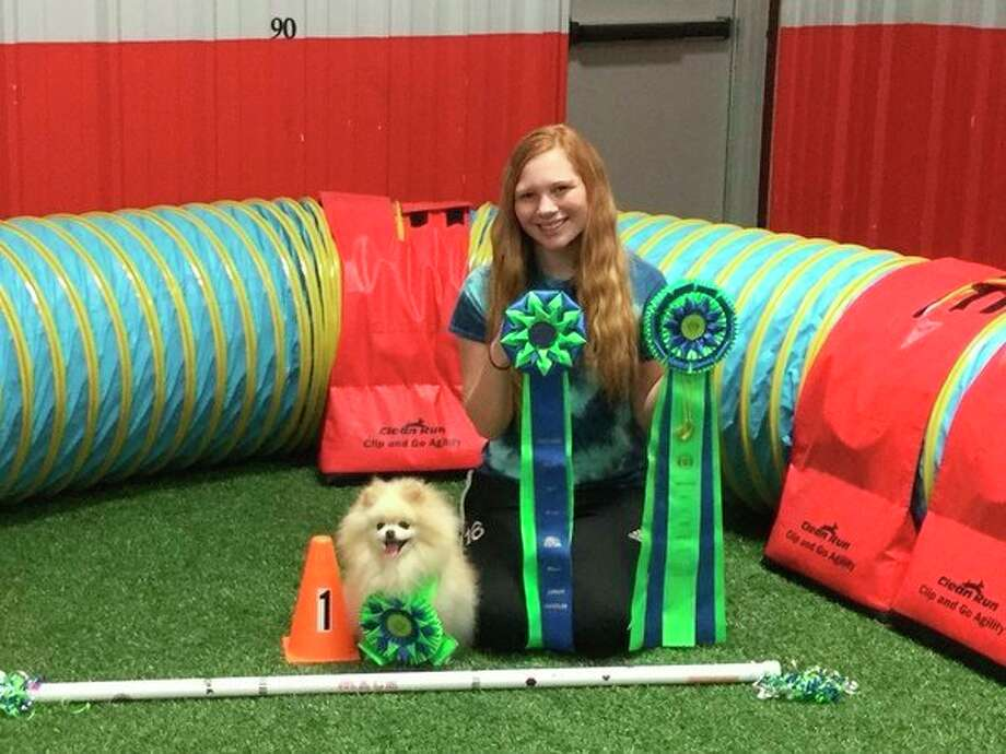 Bridget, a 7-year-old Pomeranian, with 15-year-old junior handler Alexis Vance. (Photo provided)
