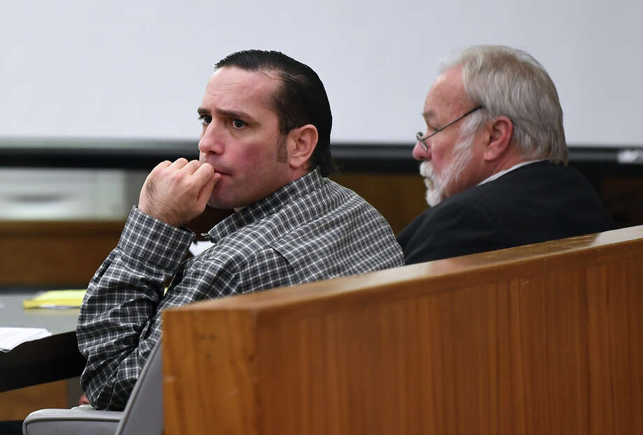 Jason Wade Delacerda, left, sits in a Kountze courtroom during the beginning of his capitol murder trial on Monday. Delacerda, 40, is accused of killing a 4-year-old girl in 2011. Photo taken Monday, February 20, 2018 Guiseppe Barranco/The Enterprise Photo: Guiseppe Barranco, Photo Editor / Guiseppe Barranco ©