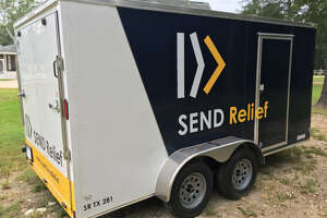 First Baptist Humble is searching for its disaster-relief trailer, which church officials said was stolen from the parking lot in late February 2018.