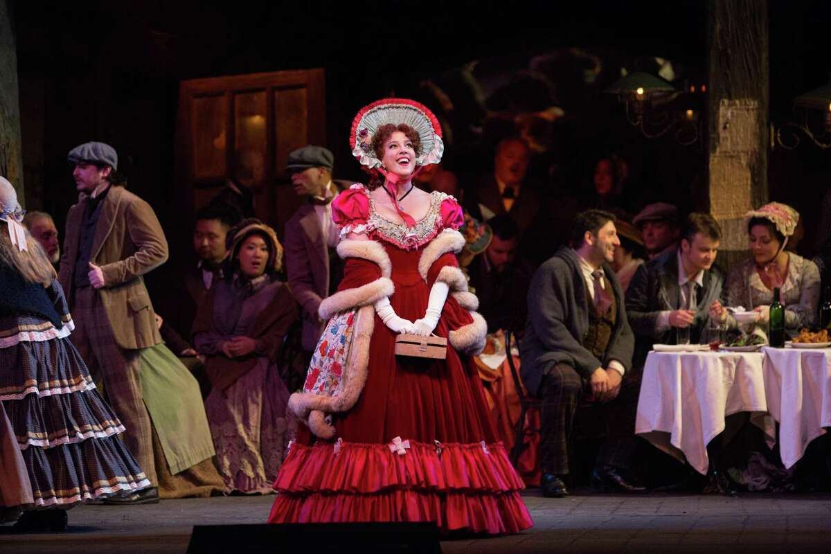 Susanna Phillips plays the role of Musetta in the Metropolitan Opera's production of