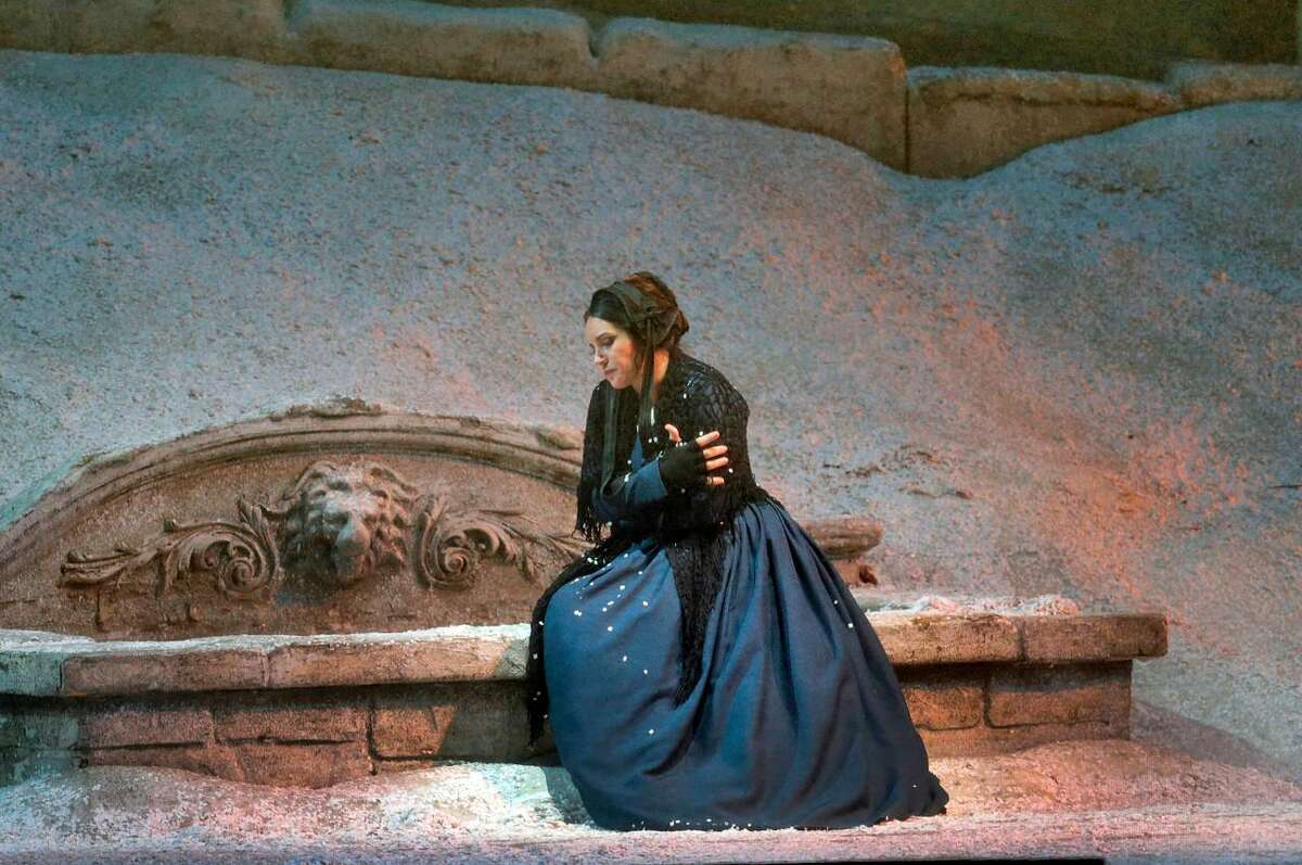 Sonya Yoncheva holds the rold of Mimi in the Met's production of 'La Boheme.