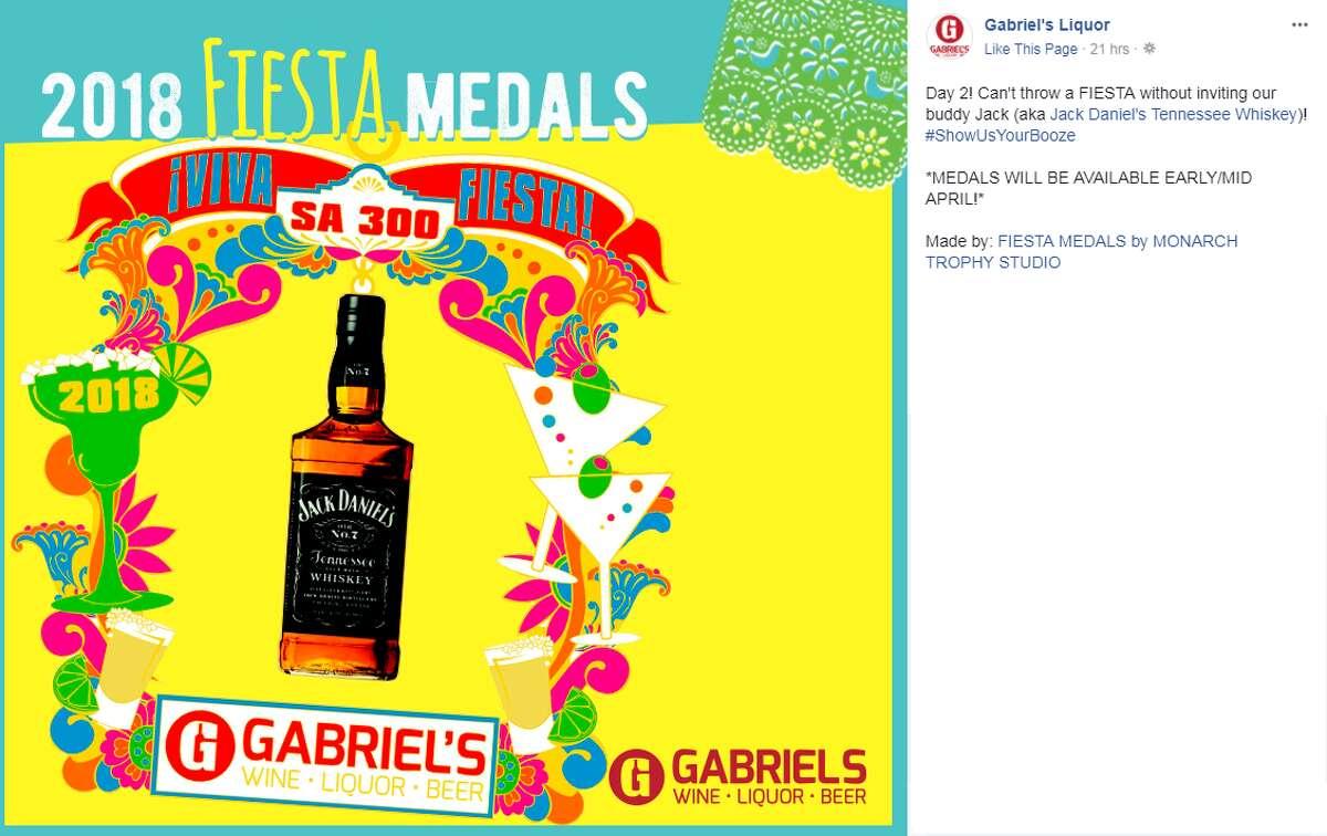 Jack Daniel's Fiesta medal by Gabriel's Liquor.