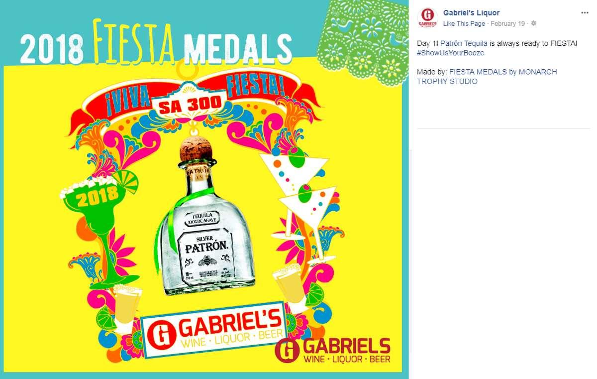 Patron Tequila Fiesta medal by Gabriel's Liquor.