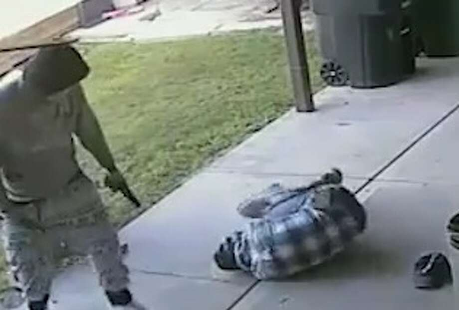 Houston police have released new surveillance footage of a violent home invasion and shooting, in hopes a tipster will come forward to help solve this case.   The home invasion occurred in a Humble neighborhood just southeast of Bush Intercontinental Airport, at 16000 Truxton, on April 5, 2017. Photo: Houston Police Robbery Division