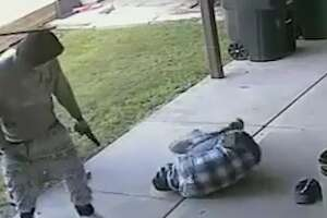 Houston police have released new surveillance footage of a violent home invasion and shooting, in hopes a tipster will come forward to help solve this case.   The home invasion occurred in a Humble neighborhood just southeast of Bush Intercontinental Airport, at 16000 Truxton, on April 5, 2017.