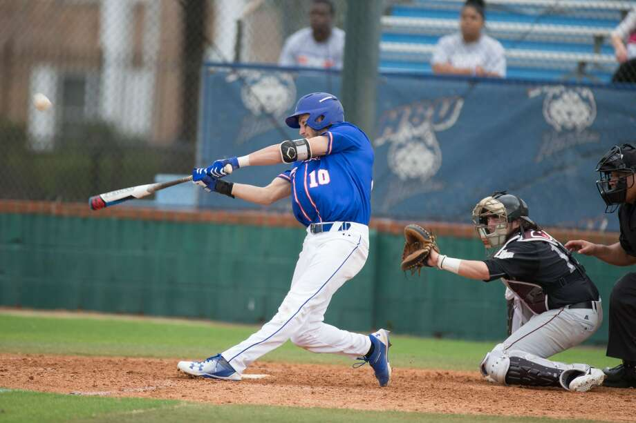 Houston Baptist senior second baseman Jack Fitzgerald went 3-for-4 with two home runs, including an inside-the-park homer, to finish with eight RBIs as the Huskies rolled to a 15-3 non-conference baseball matchup against Texas Southern at Husky Field on Tuesday. Photo: Houston Baptist University/Juan DeLeon
