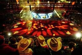 Sunlight streams into NRG Stadium as people watch the opening ceremonies during round two of Super Series III at the Houston Livestock Show and Rodeo Tuesday, March 14, 2017 in Houston. ( Michael Ciaglo / Houston Chronicle )