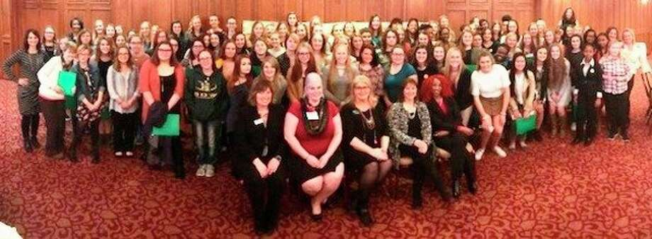 More than 135 high school girls from 13 school districts across mid-Michigan learned life skills at the second annual Great Lakes Bay Region Mentors Circle seminar and luncheon hosted by Junior Achievement of North Central Michigan. (Photo provided)