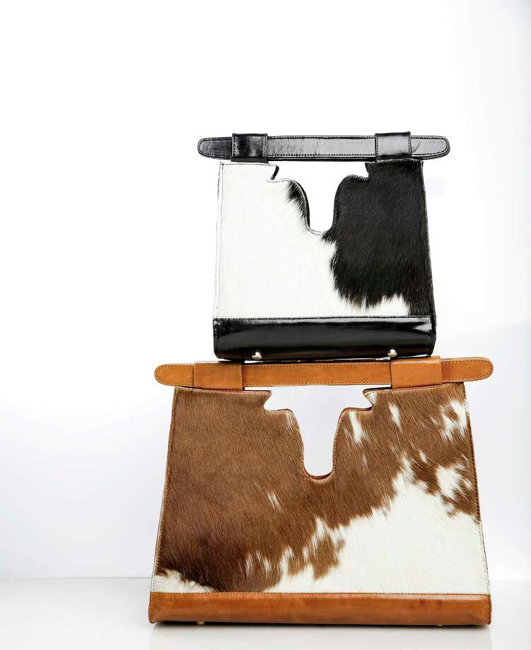 Cowhide bags from the Elizabeth Purpich Collection Photo: Elizabeth Conley, Chronicle / © 2018 Houston Chronicle