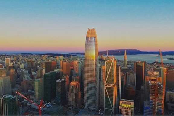 Photo by  @brandonvaccaro . Some of the Instagram photographs of the Salesforce Tower that have been shared with the SFGate Instagram page.