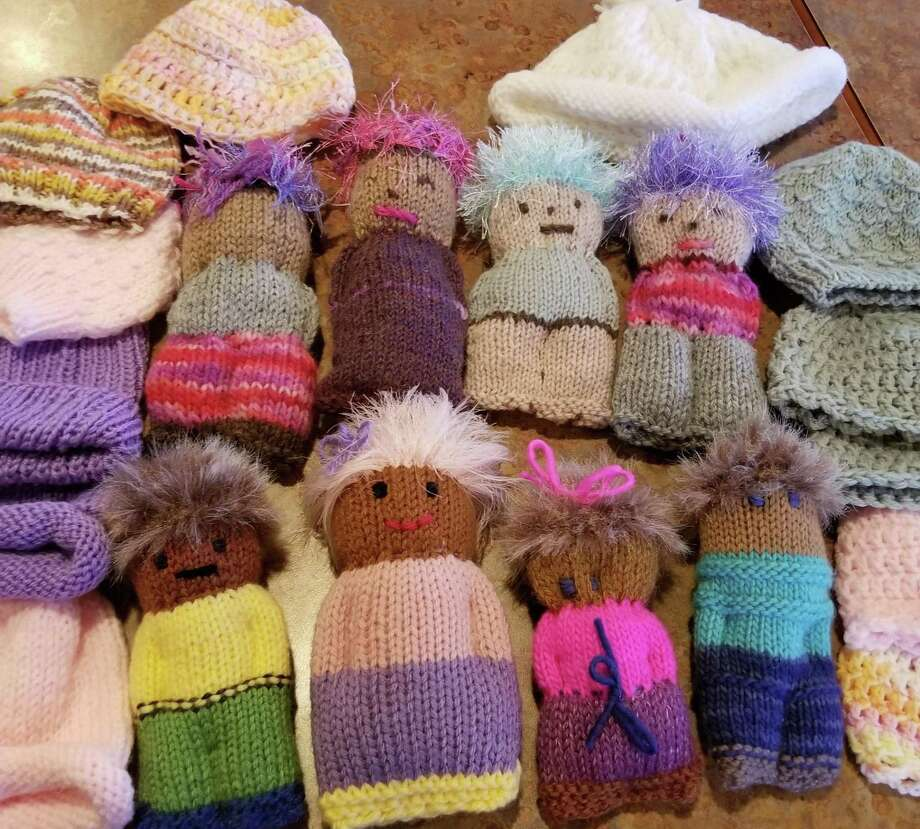 A charity knit-along will be held Saturday at In Sheep's Clothing in Torrington. Participants can learn to make these charming dolls. Photo: Ginger Balch / Contributed Photo