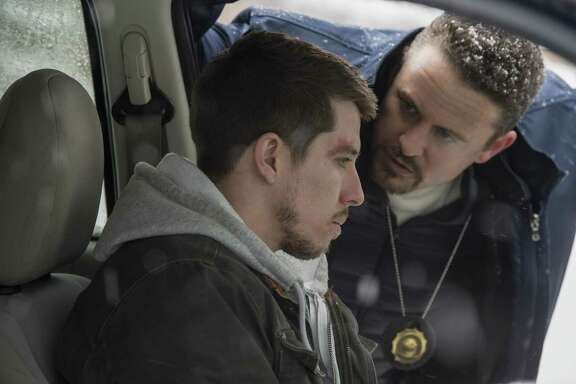 "Peter's (Beau Knapp, left) and Mike's (David Lyons) lives are changed forever by their decisions in ""Seven Seconds."""