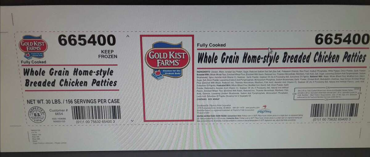 Pilgrim's Pride Corp., of Waco, Texas is recalling about 101,310 pounds of ready-to-eat breaded chicken patties that may be contaminated with extraneous materials, specifically rubber.