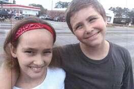 Siblings Serina Solley, 11, and Matthew Solley, 13, of Vidor.