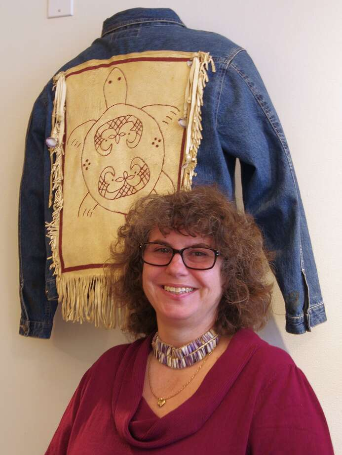 "Institute for American Indian Studies welcomes Vera Longtoe Sheehan, Abenaki, one of the creative minds behind the exhibit, ""Alnobak Wearing Our Heritage"" on Feb. 24. Photo: Contributed Photo"