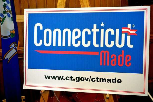 """Legislators unveiled a new """"Connecticut Made"""" logo Wednesday to promote products created in the state."""