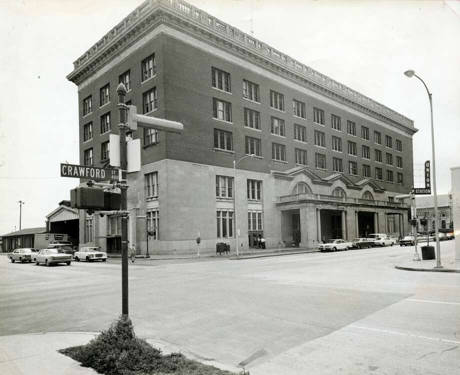 PHOTOS: Houston in 1968  Union Station is seen here in April 1968. Just three decades later Enron Field (later known as Minute Maid Park) would be built on the site, incorporating the old train station in the design.   >>>See what Houston looked like 50 years ago... Photo: Jerry Click/Houston Chronicle