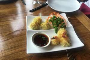 Little Kitchen's shrimp dumplings are good party appetizers.