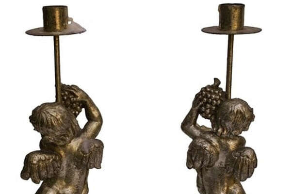 Candlesticks formerly owned by Donald Trump and Marla Maples during their marriage.