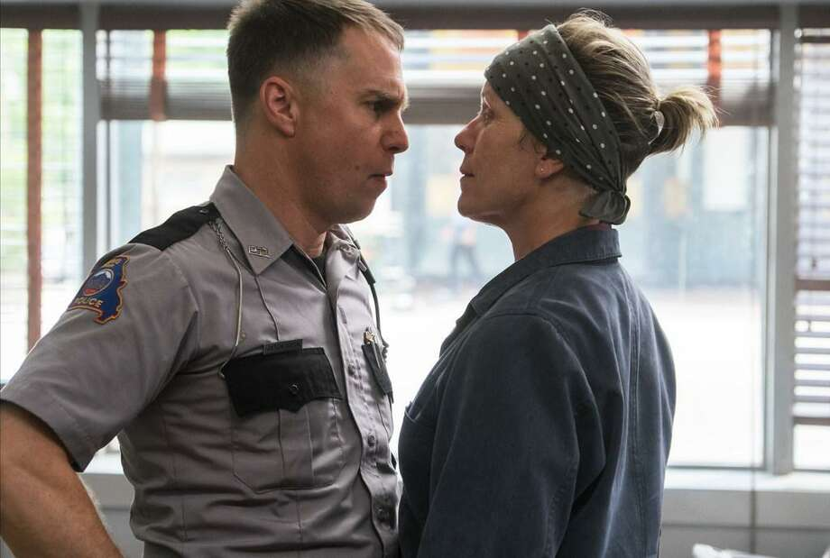 "Sam Rockwell and Frances McDormand are Oscar frontrunners for their performances in ""Three Billboards Outside Ebbing, Missouri."" Photo: Contributed Photo"