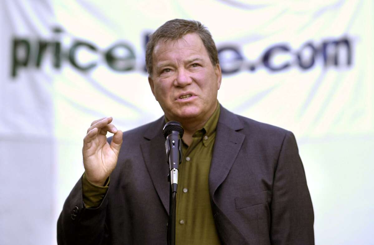 A file photo of Priceline.com pitchman William Shatner, who played