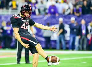 December 29, 2015: Texas Tech Red Raider kicker Taylor Symmank (42) during the 2015 Advocare Texas Bowl featuring the LSU Tigers vs Texas Tech Red Raiders at NRG Stadium, Houston, Texas. (Photo by Ken Murray/ICON Sportswire) (Photo by Ken Murray/Icon Sportswire/Corbis via Getty Images)