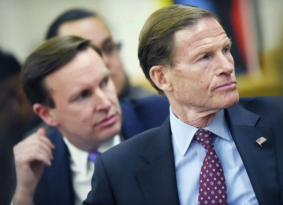 Connecticut Sen. Richard Blumenthal (D-Conn.) and Sen. Chris Murphy (D-Conn.) Photo: Catherine Avalone / Hearst Connecticut Media / New Haven Register