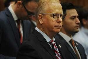 Republican gubernatorial candidate Danbury Mayor Mark Boughton
