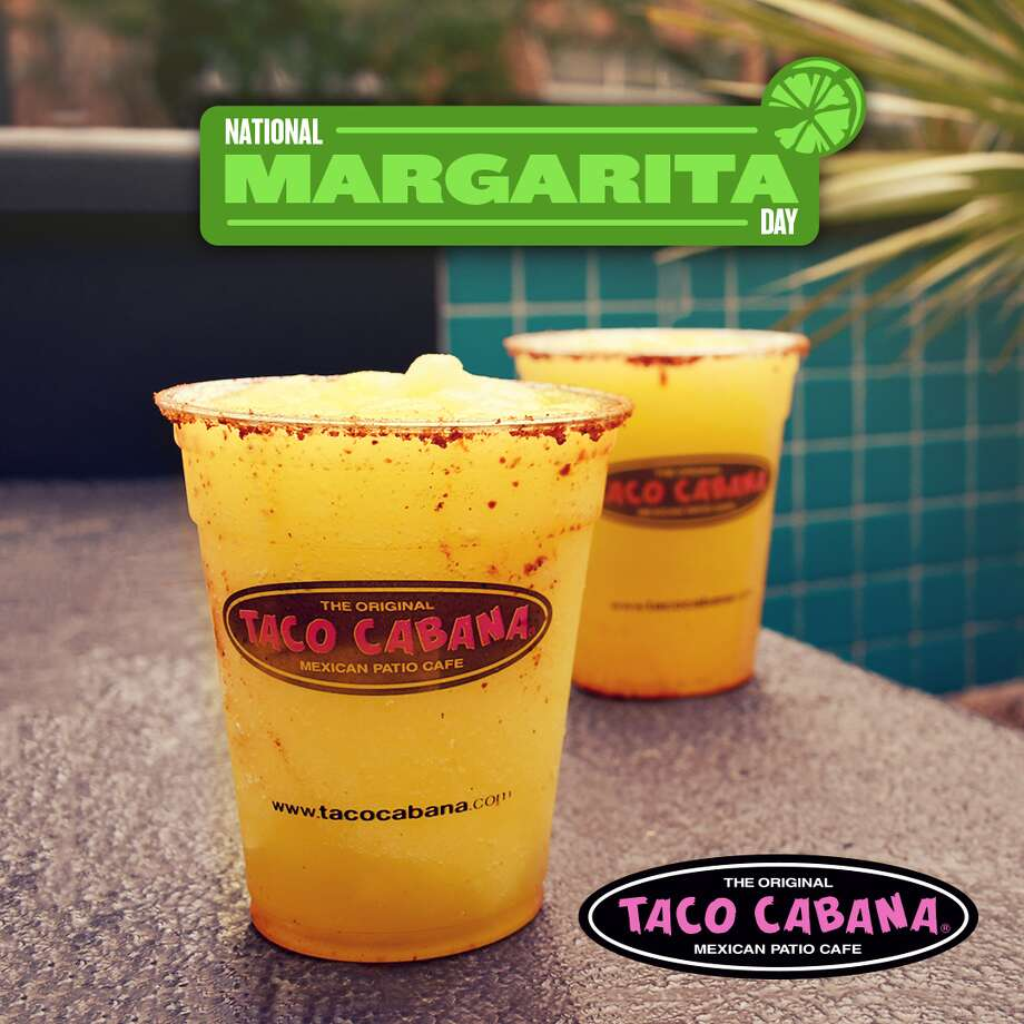 Taco Cabana's usual 4 to 7 p.m. happy hour special with $3 margaritas will last all day on Feb. 22.>>See where to get a great margarita in Houston.
