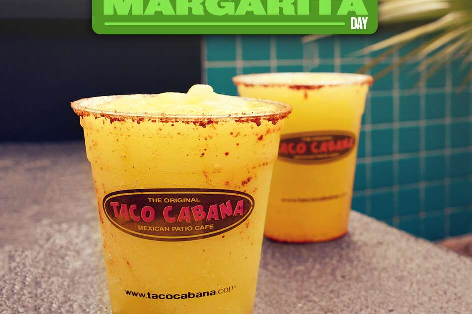 Taco Cabana's usual 4 to 7 p.m. happy hour special with $3 margaritas will last all day on Feb. 22.