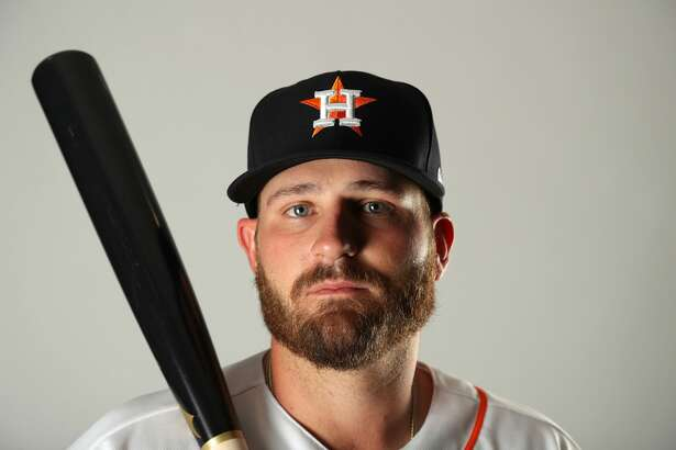 WEST PALM BEACH, FL - FEBRUARY 21:  Tyler White #13 of the Houston Astros poses for a portrait at The Ballpark of the Palm Beaches on February 21, 2018 in West Palm Beach, Florida.  (Photo by Streeter Lecka/Getty Images)