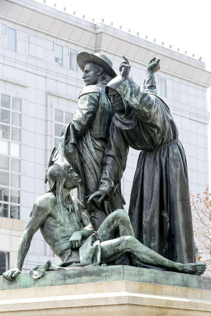 Pioneer Monument on Fulton St on Monday, August 21, 2017 in San Francisco, Calif.