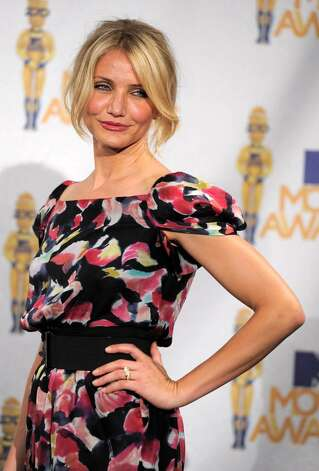 Cameron Diaz is seen backstage at the MTV Movie Awards in Universal City, Calif., on Sunday, June 6, 2010. (AP Photo/Chris Pizzello) Photo: Chris Pizzello