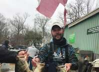 Justin 'Grasshopper' Smith came in first place at the February 3 Woods and Water Bass Tournament. Justin's three fish catch tipped the scale at 16 lbs. 12 ozs.