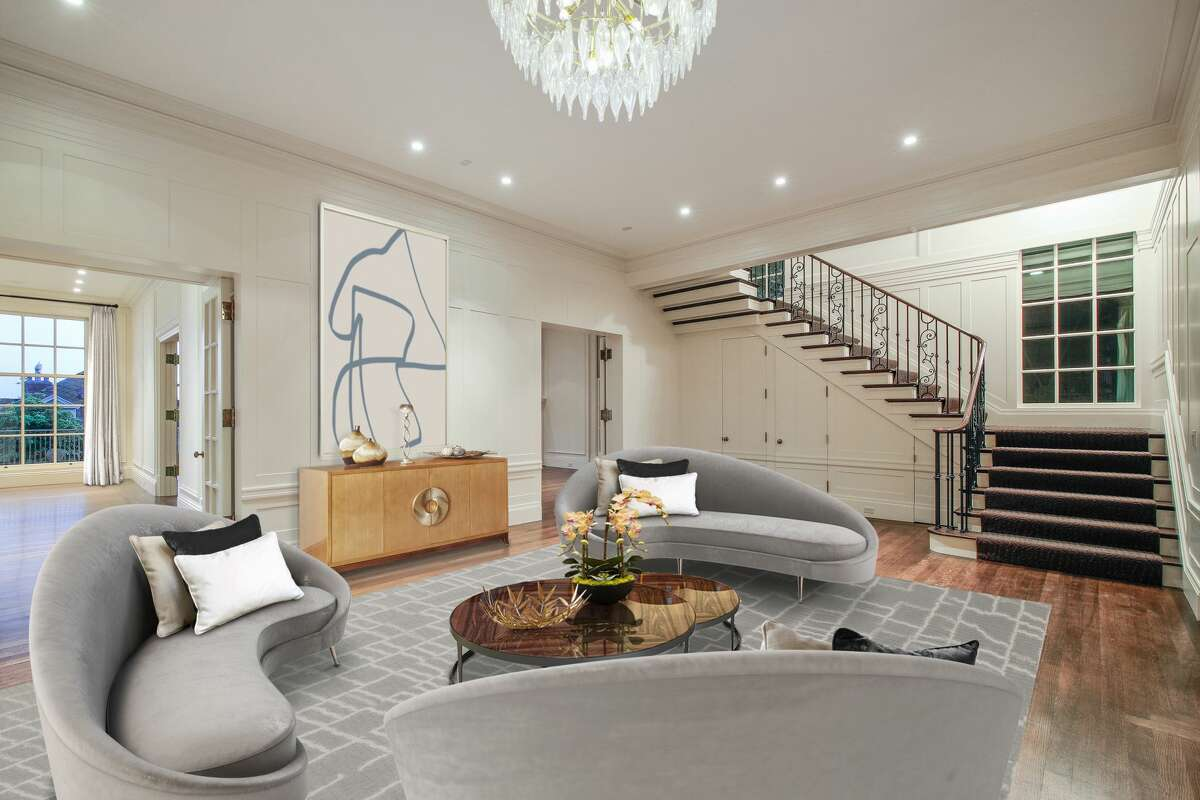A 14,000-square-foot Pacific Heights mansion at 3001 Pacific Ave. sold for $15.85 million in April 2019.